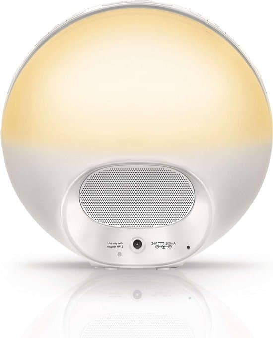 Philips Wake Up Light Fancy Box HF3510/01 achterkant.